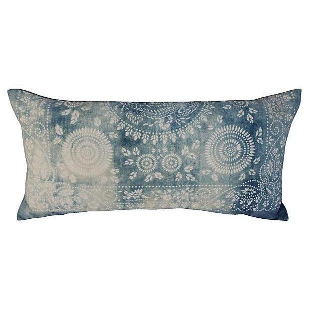 Faded Indigo Batik Body Pillow - Image 6 of 6