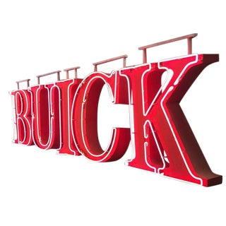 Buick Automobiles Dealership Neon Sign For Sale