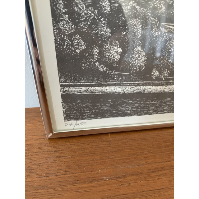 Mid-Century Modern Vintage New York City Pen and Ink Drawing For Sale - Image 3 of 8