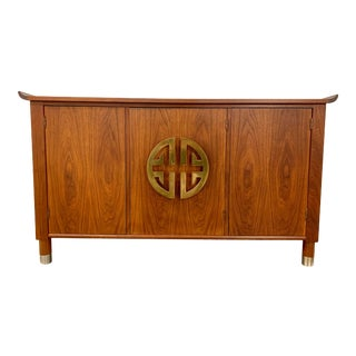 Mid Century Asian Media Cabinet For Sale