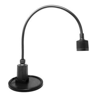Vintage Black Sunnex Gooseneck Desk Lamp For Sale
