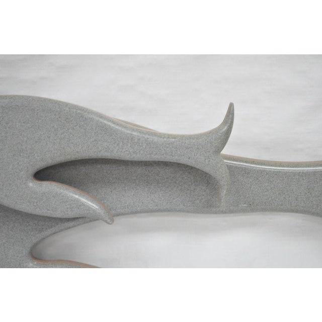 """Plastic 48"""" Custom Made 3d Laminated Formica Mother Dolphin & Baby Pup Calf Sculpture For Sale - Image 7 of 11"""