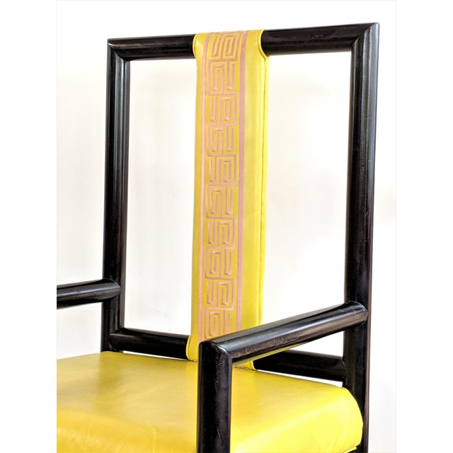 1980s Vintage Kelly Wearstler for the Viceroy Hotel High Back Arm Chairs - a Pair For Sale In Miami - Image 6 of 13