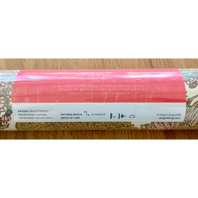 Beautiful Abigail Borg Wallpaper - 4 unopened rolls leftover from my home. Rich colors on a creamy white backdrop. See...