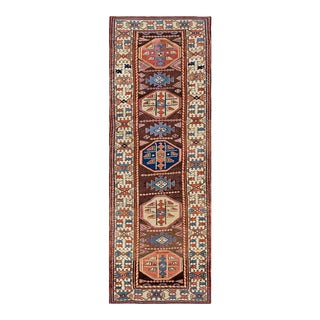 "Antique Persian Kurdish Rug 3'5"" X 8'3"" For Sale"