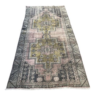 1960s Tribal Floor Turkish Antique Carpet For Sale
