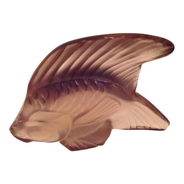Lalique Angel Fish Mauve For Sale
