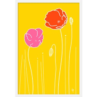 """Medium """"Wild Poppies""""Print by Wendy Concannon, 21"""" X 31"""" For Sale"""