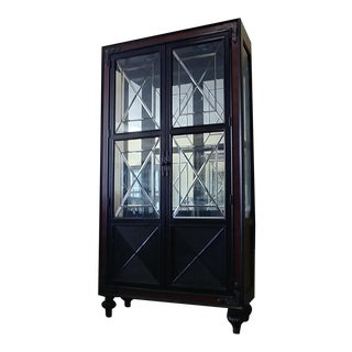 Campaign Thomasville Furniture Ernest Hemingway Masai Dining Room Curio Cabinet For Sale