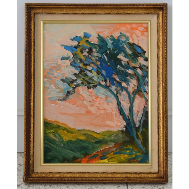 "Blue Original Juan ""Pepe"" Guzman, Ojai California Plein Air Landscape Painting For Sale - Image 8 of 9"