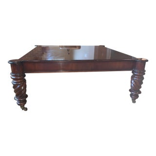 Baker Milling Road Square Wood Cocktail Table For Sale