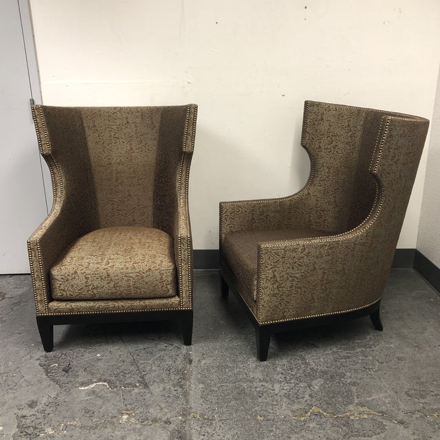 Bernhardt Ironies Tule Lounge Chairs- a Pair For Sale - Image 4 of 13