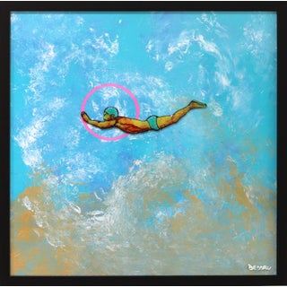 'The Young Diver'' Original Artwork by Giuseppe Beddru For Sale