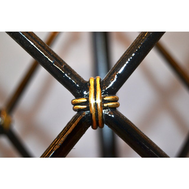Metal Round Bronze Glass Coffee Table Ball and Claw Feet For Sale - Image 7 of 13