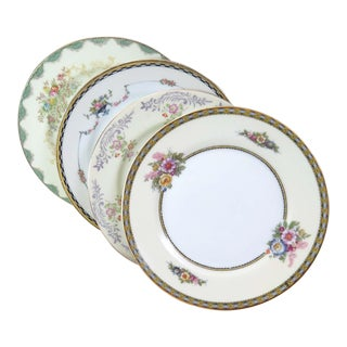 Vintage Mismatched Fine China Dessert Plates - Set of 4 For Sale