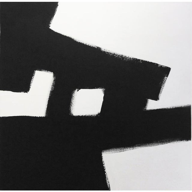 """Kathi Blinn """"All the Road Running"""" Contemporary Black and White Acrylic Painting For Sale"""