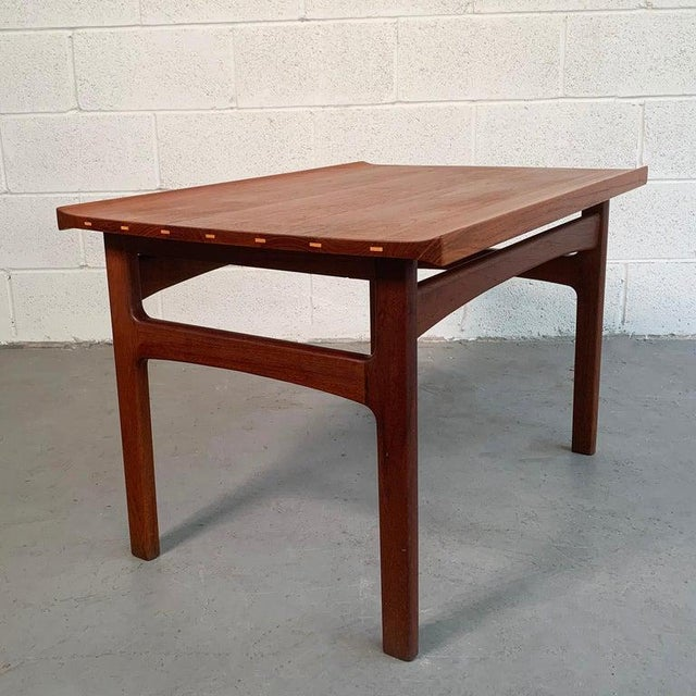 Mid-Century Modern Teak Side Table by Tove and Edvard Kindt-Larsen for Dux For Sale - Image 3 of 9
