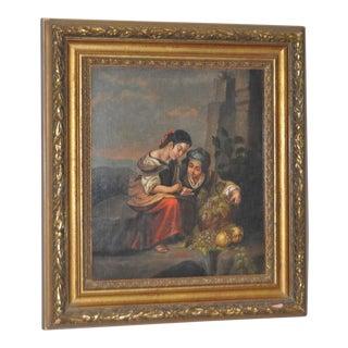 19th Century Italian School Oil Painting on Canvas