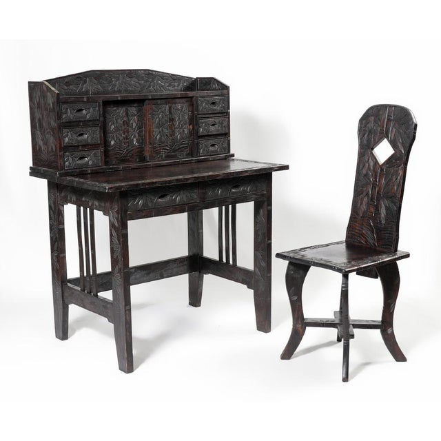 Oriental Ladies Writing Desk & Chair - Image 2 of 6