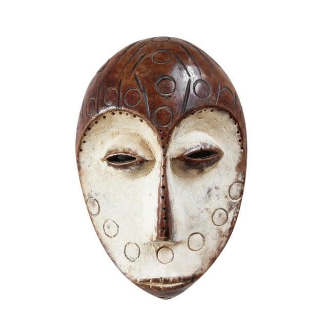 Carved Wood African Lega Mask For Sale