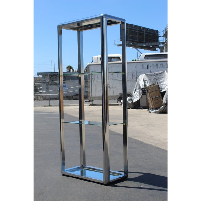1970s Chrome Mirrored Display Case Stand For Sale - Image 12 of 13