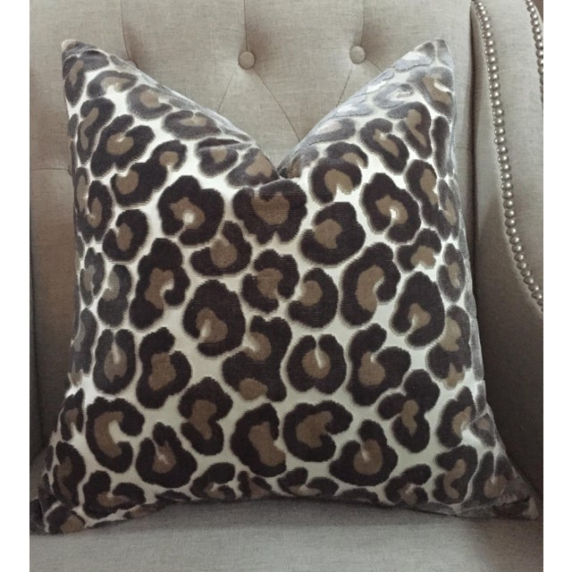 "Kravet Couture ""Hunt Is On"" Animal Print Pillow Covers - a Pair For Sale - Image 6 of 6"