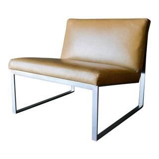 1980s Vintage Fabien Baron in Saddle Leather B2 Lounge Chair For Sale