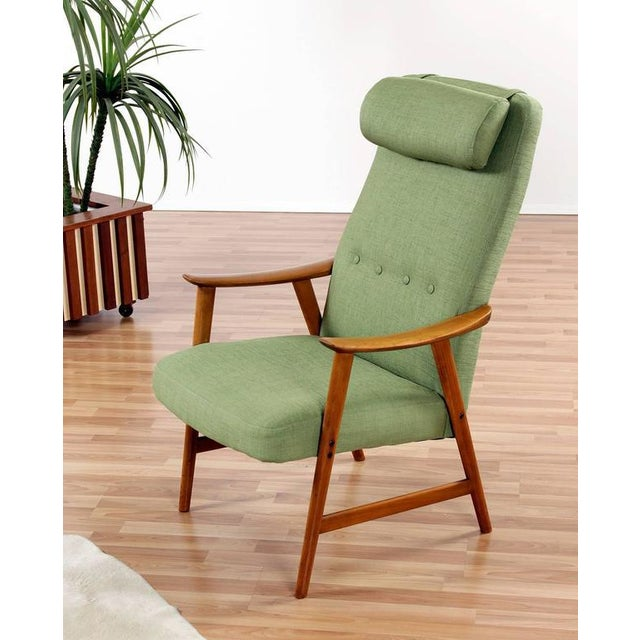 Green Mid Century Modern Arm Chair - Image 2 of 8