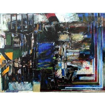 Abstract William Pachner, Transit, 1980 For Sale - Image 3 of 3