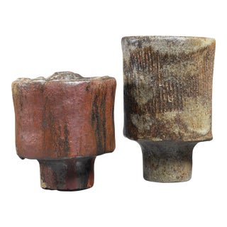José Berlanga pair of ceramic vases, Germany, 1970s For Sale