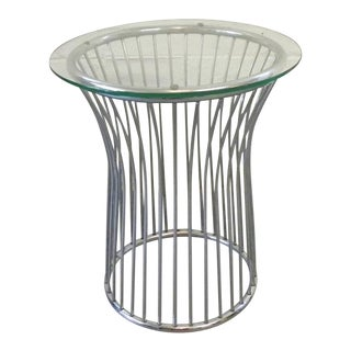Vintage Mid Century Modern Glass Accent Table For Sale