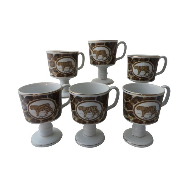 Mann Imports Jaguar Mugs - Set of 6 - Image 1 of 7