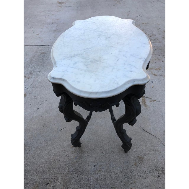 Traditional 19th Century Traditional Marble Topped Table For Sale - Image 3 of 11