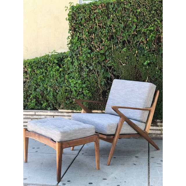Mid Century Modern Lounge Chair and Ottoman- Customizable For Sale - Image 13 of 13