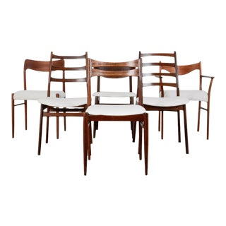 Danish Modern Mixed Dining Chairs - Set of Six For Sale