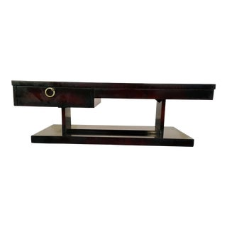 1960s Brutalist Lane Furniture Deep Red & Ebony Coffee Table For Sale
