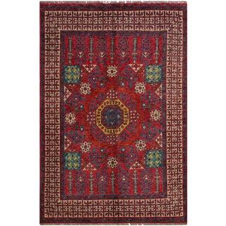 Modern Balouchi Alina Pink & Ivory Wool Rug- 4′10″ × 6′11″ For Sale