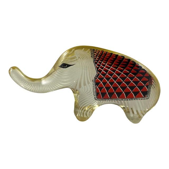 1970s Abraham Palatnik Lucite Elephant Figurine For Sale