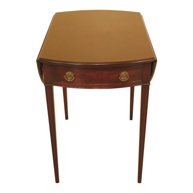 1940s Federal Kittinger Vintage Mahogany Drop Leaf Pembroke Table For Sale