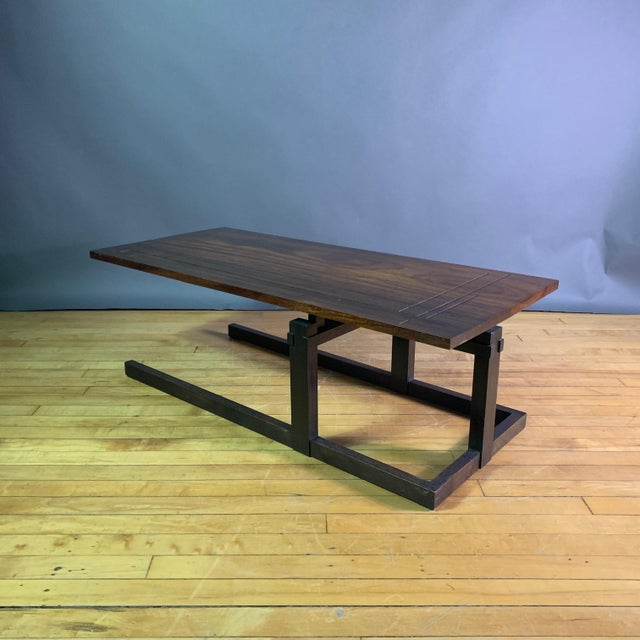 Art Deco Thomas Swift Studio Teak and Lacquered Coffee Table, Usa 1980s For Sale - Image 3 of 10