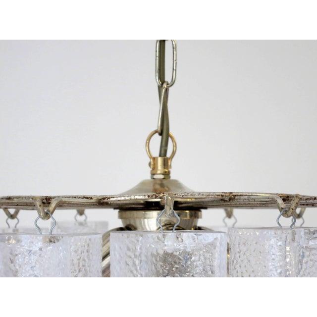 Venini Italian Vintage Murano Glass Chandelier by Venini For Sale - Image 4 of 6