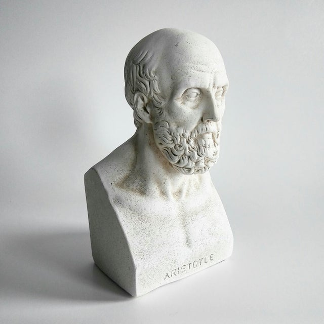 1960s Vintage Grecian Plaster Statue Aristotle Bust For Sale - Image 6 of 6