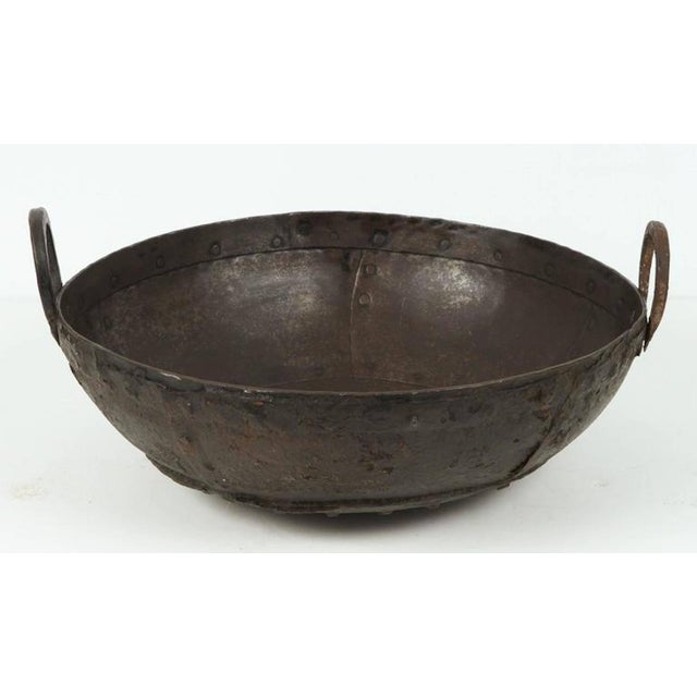 Early 20th Century Large Iron Outdoor Pot Southern India For Sale - Image 5 of 5
