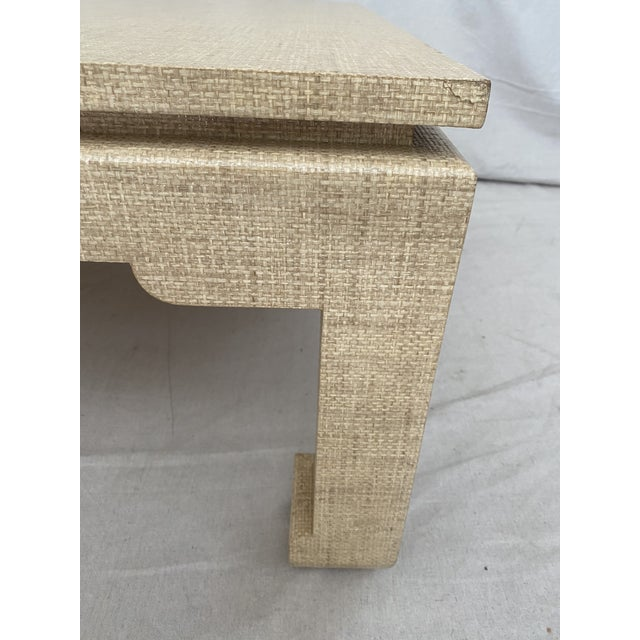 Grasscloth Wrapped Ming Style Coffee Table For Sale In Tampa - Image 6 of 11