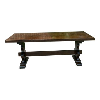 Antique French Farmhouse Table Desk Dining Monastery Table For Sale