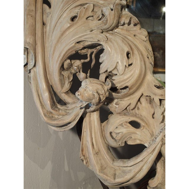 Tan Monumental 19th Century Baroque Mirror from Italy For Sale - Image 8 of 11