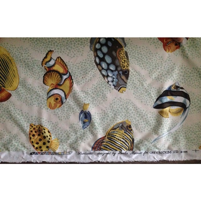 "Grey Watkins ""Barbuda"" Fish Linen Textile - 4 1/3 Yds. For Sale - Image 4 of 12"