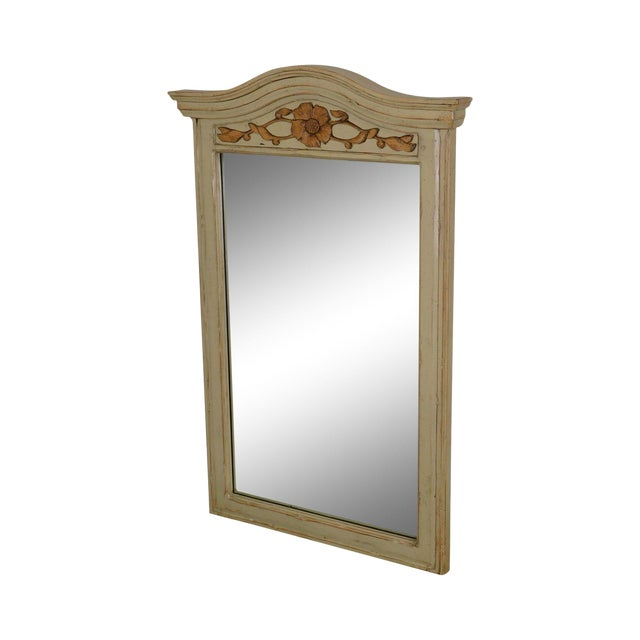 Woodland Furniture French Country Style Painted Wall Mirror For Sale