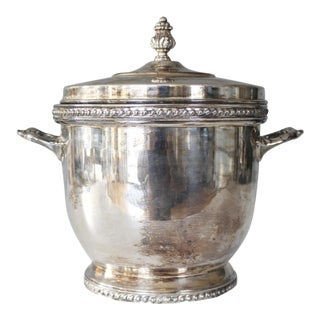 Vintage Silver Plated Ice Bucket With Lid Friedman Silver Co Silverplate For Sale