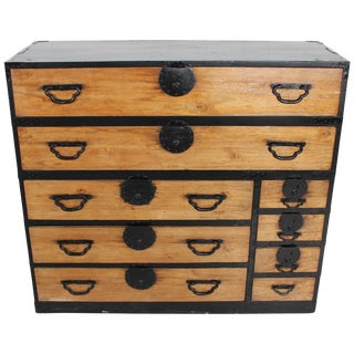 Oversize 19th Century Japanese Tansu Chest For Sale